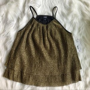 Gorgeous Gold Glitzy Holiday Top NWT